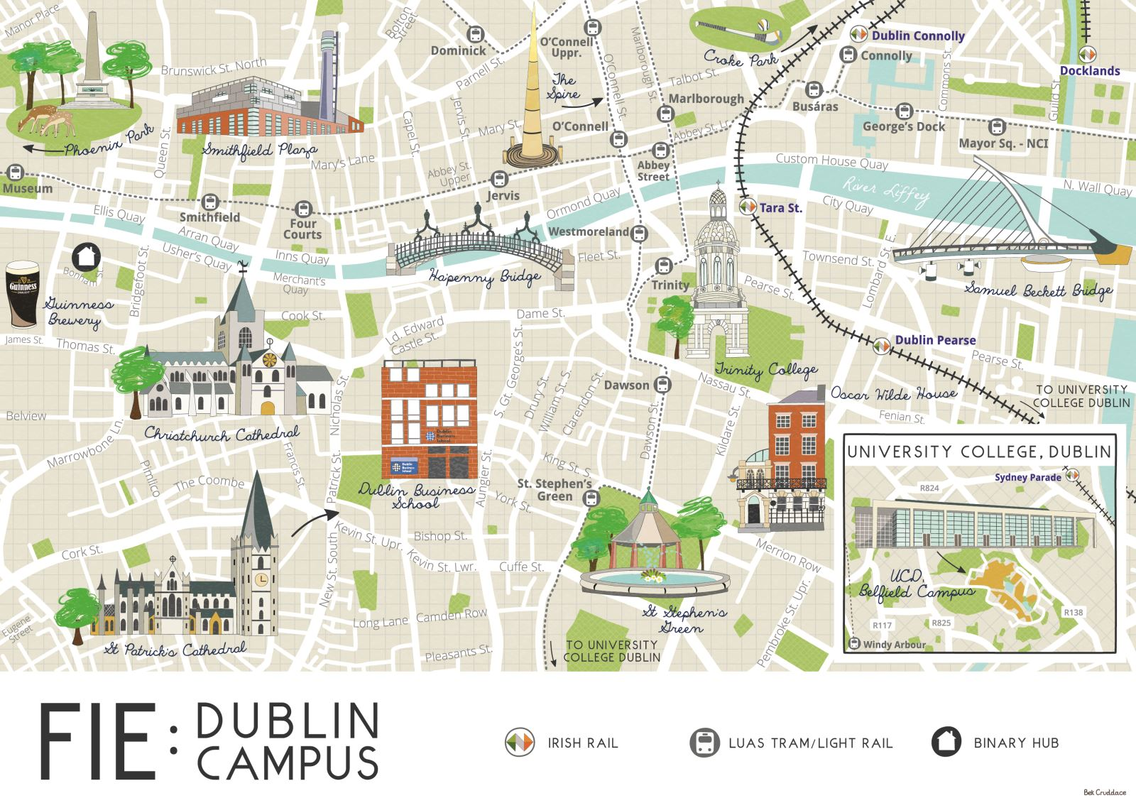 City Map Of Dublin Ireland.Studying In Dublin Ireland Undergraduate Admissions Baylor